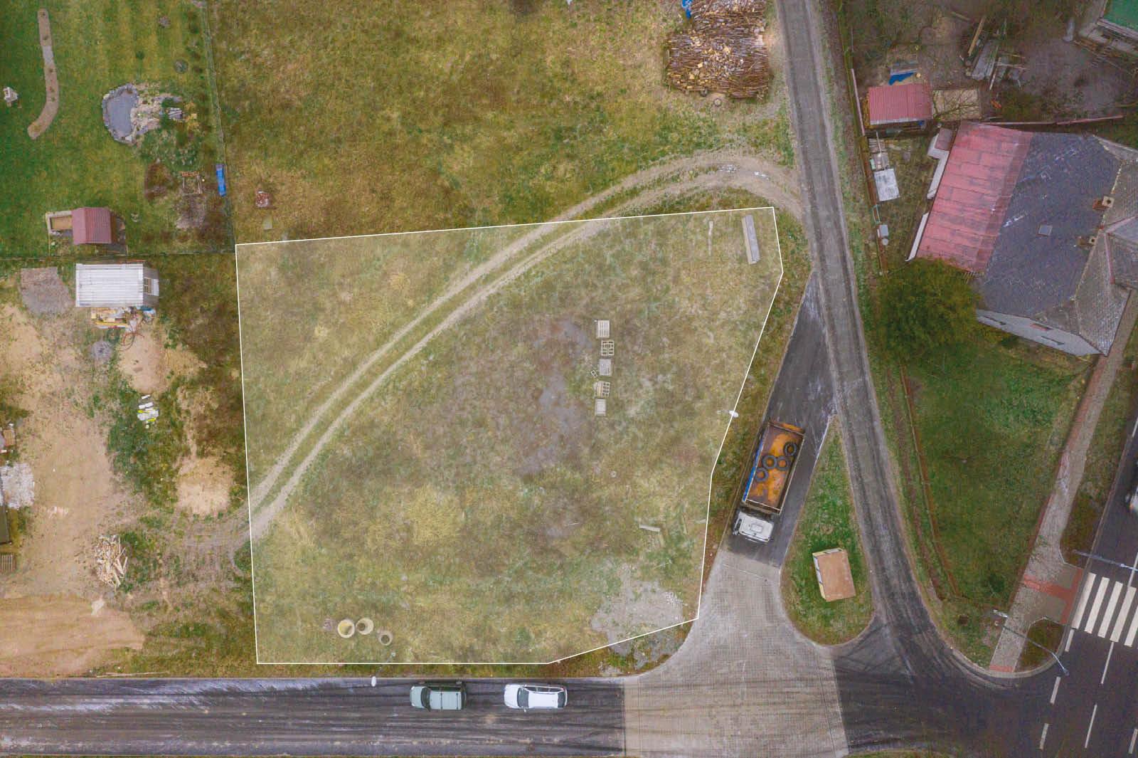 zaber z dronu prodej pozemku Hlinsko