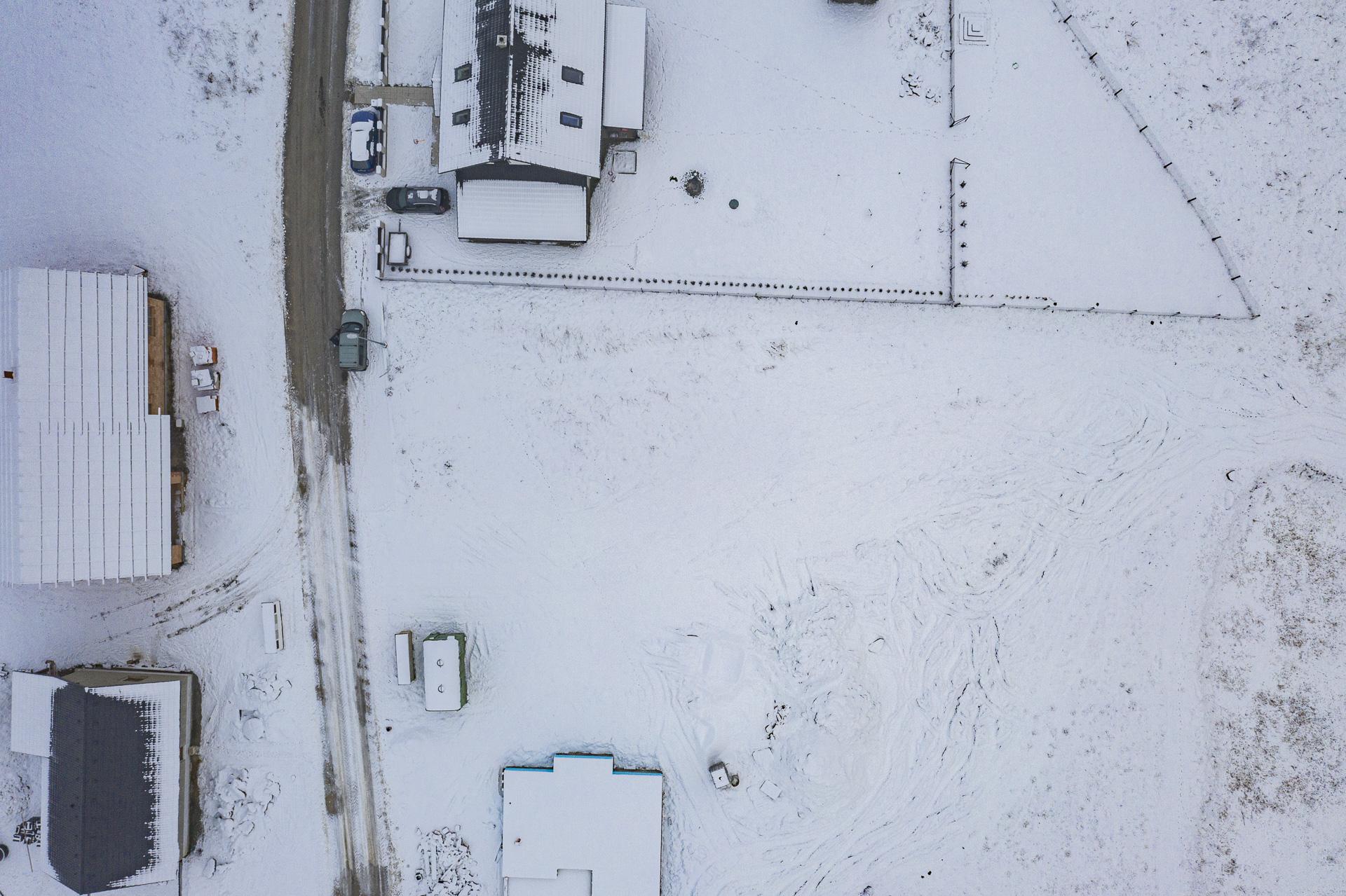 Stavebni pozemek na prodej Hlinsko zaber z dronu
